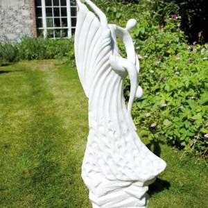 Ballroom Grace garden statue white marble effect