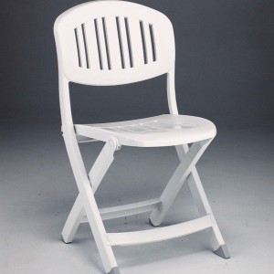 Capri folding chair white