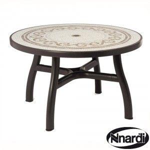 Colosseo 120cm table in Coffee / Brown
