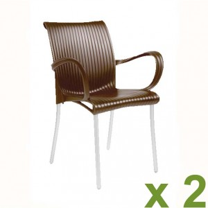Dama chair coffee x2