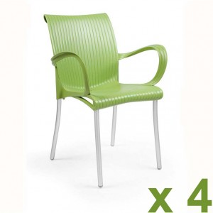 Dama chair green x4