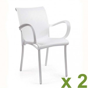 Dama chair white x2