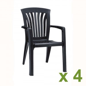 Diana Chair Anthracite x4