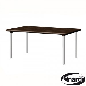 Maestrale 220 extending table in Coffee