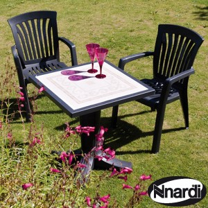 ardi Giove 70 Table with 2 diana chairs - Anthracite
