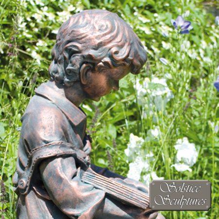 Arthur garden statue close up