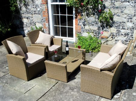 Athens resin wicker sofa set