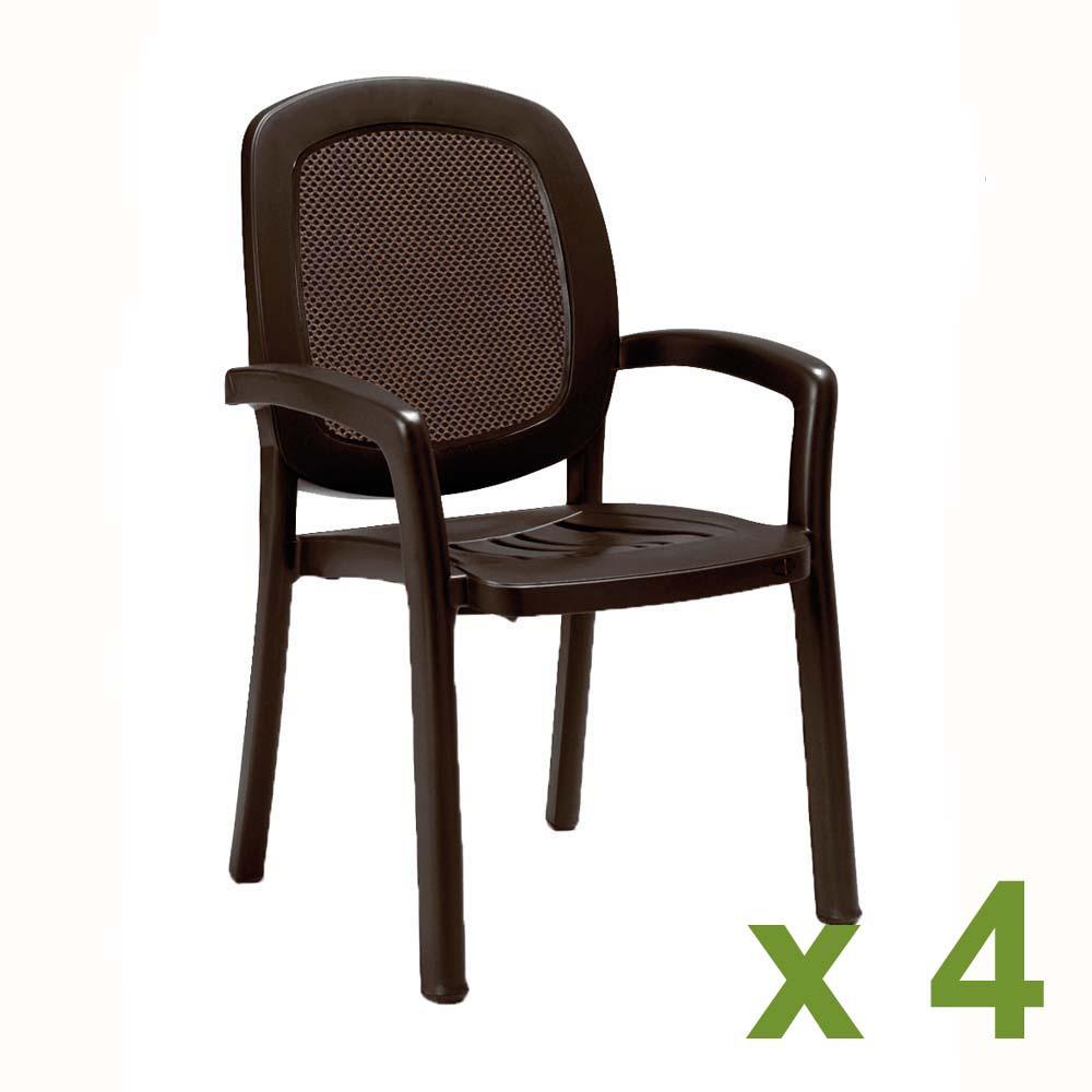 Beta Chair Coffee x 4