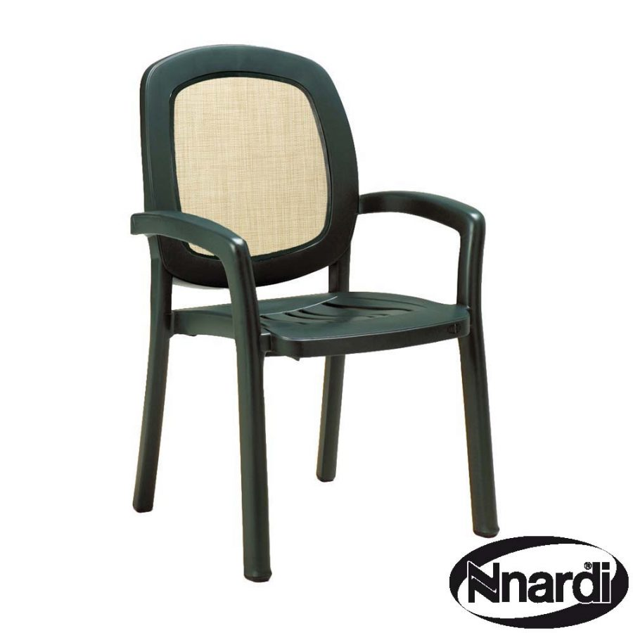 Beta stacking chair in green