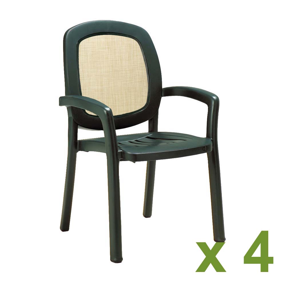 beta chair green pack of 4