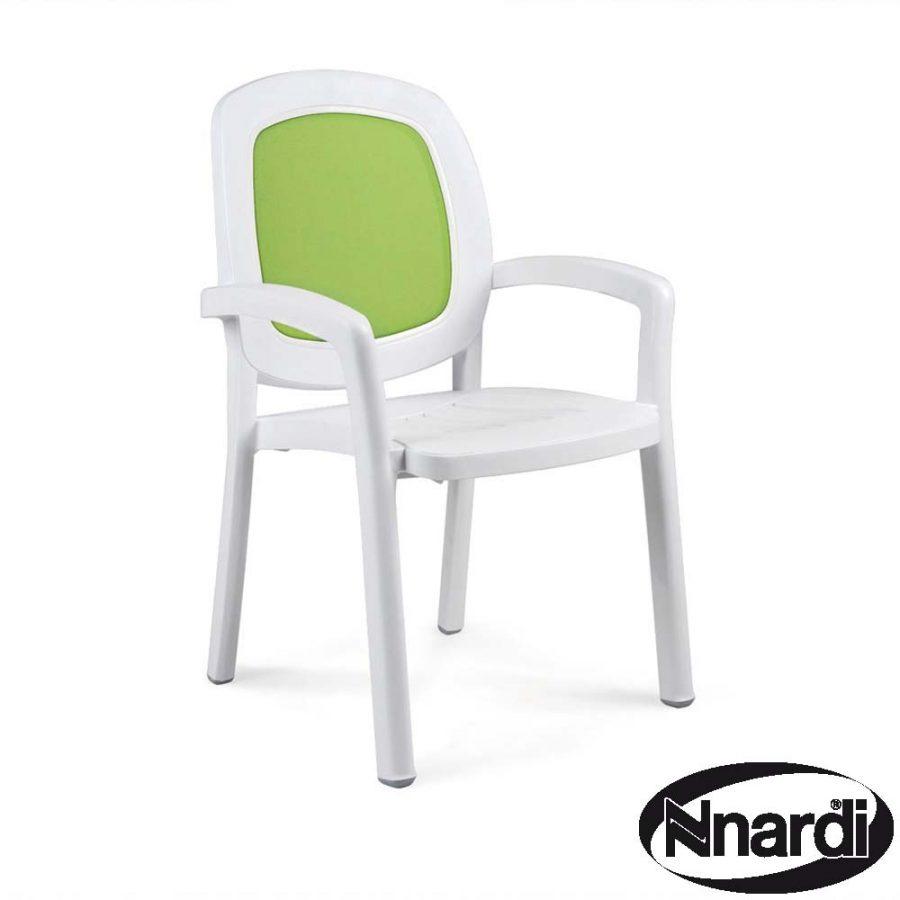 Beta Chair White & Lime