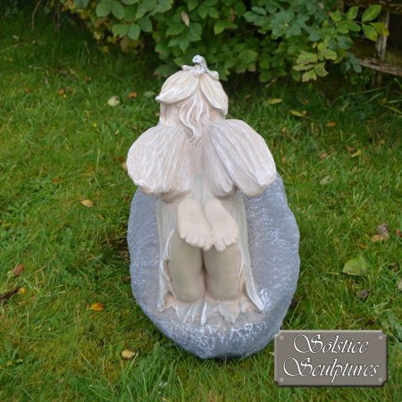 Bloom Garden Fairy - rear view, in pastel colours