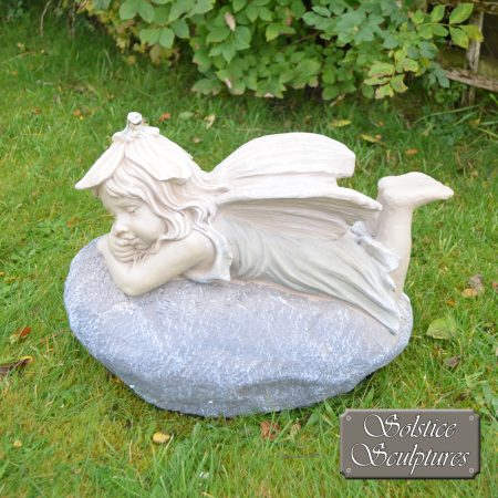Bloom Garden Fairy - left hand side view, in pastel colours