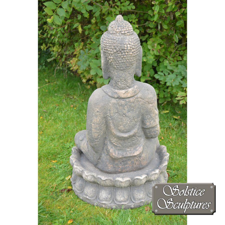 Buddha Garden statue rear view