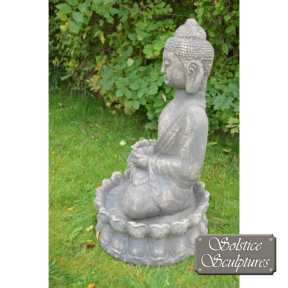 Buddha Garden statue left hand side view