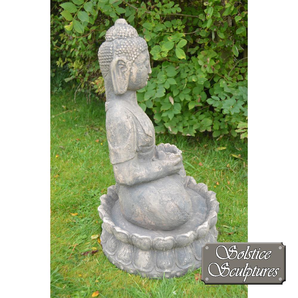 Buddha Garden statue right hand side view
