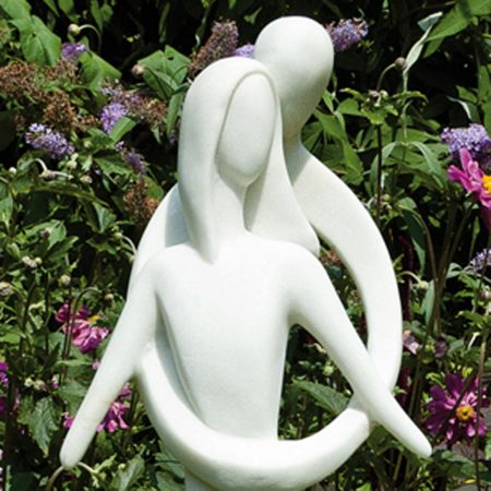 Caring Embrace garden statue close-up