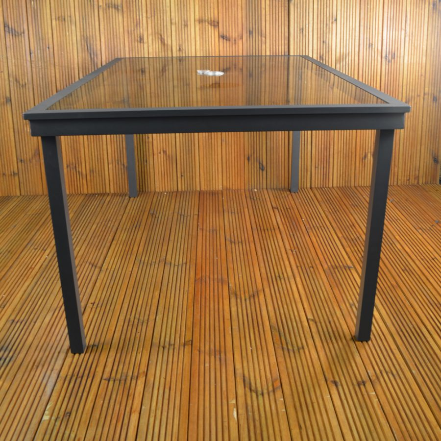 Malmo glass top table