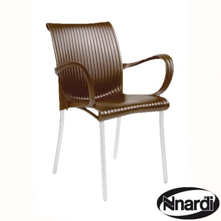 Dama chair in coffee / brown