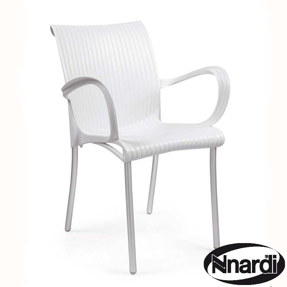 Dama arm chair in white