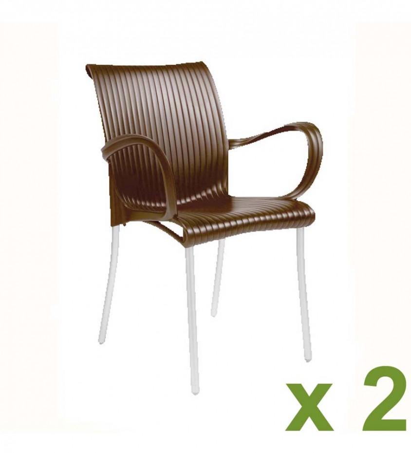 Dama chair coffee x2