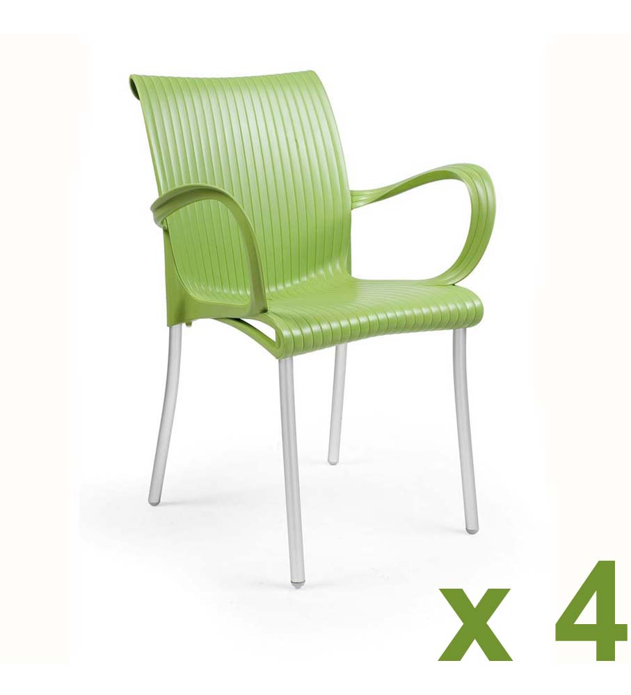 dama chair muschio green 4 pack