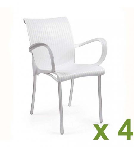 Dama chair white x4