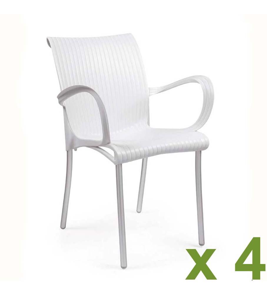 Dama chair white x4