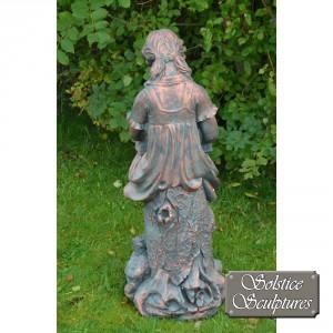 Daphne garden statue rear view