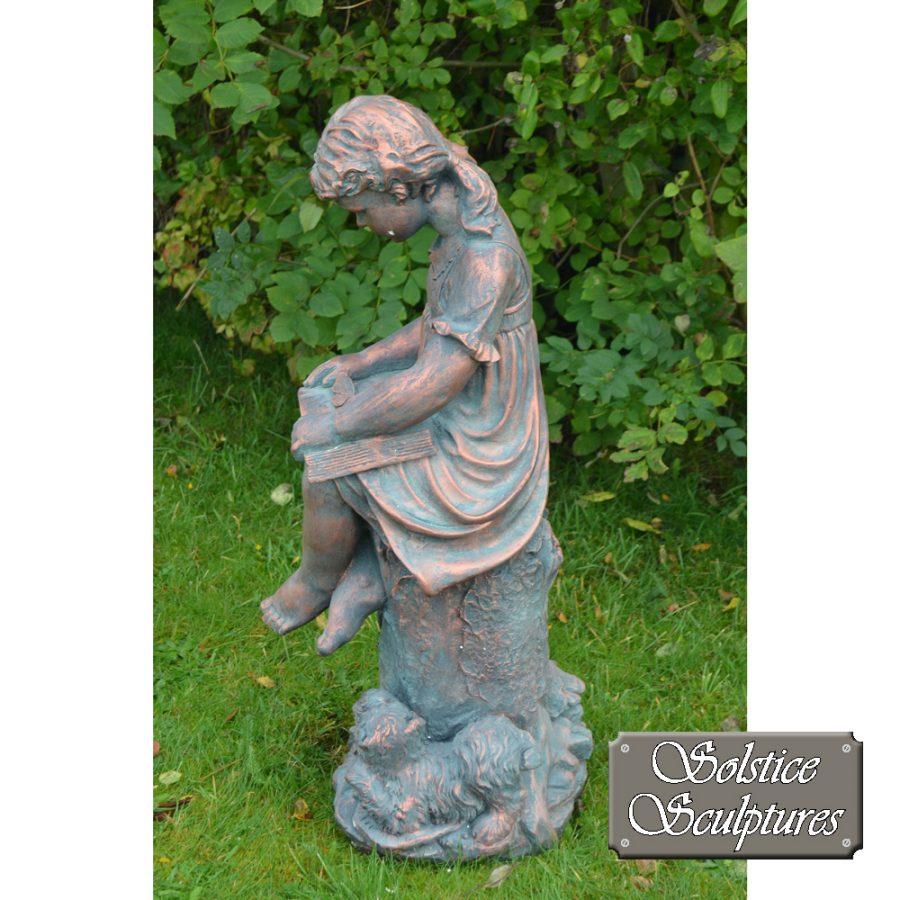 Daphne garden statue left hand side view