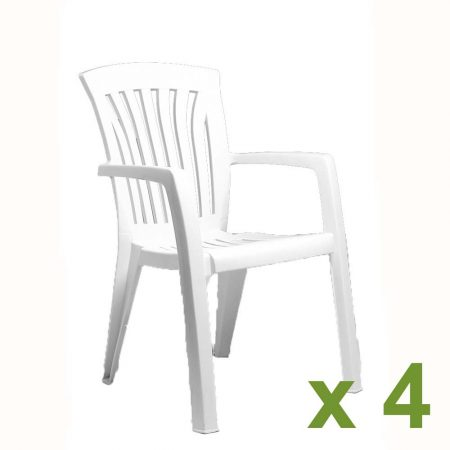 Diana chair White x4