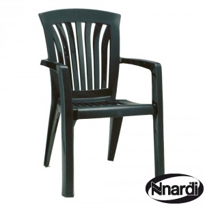 Diana stacking chair in green