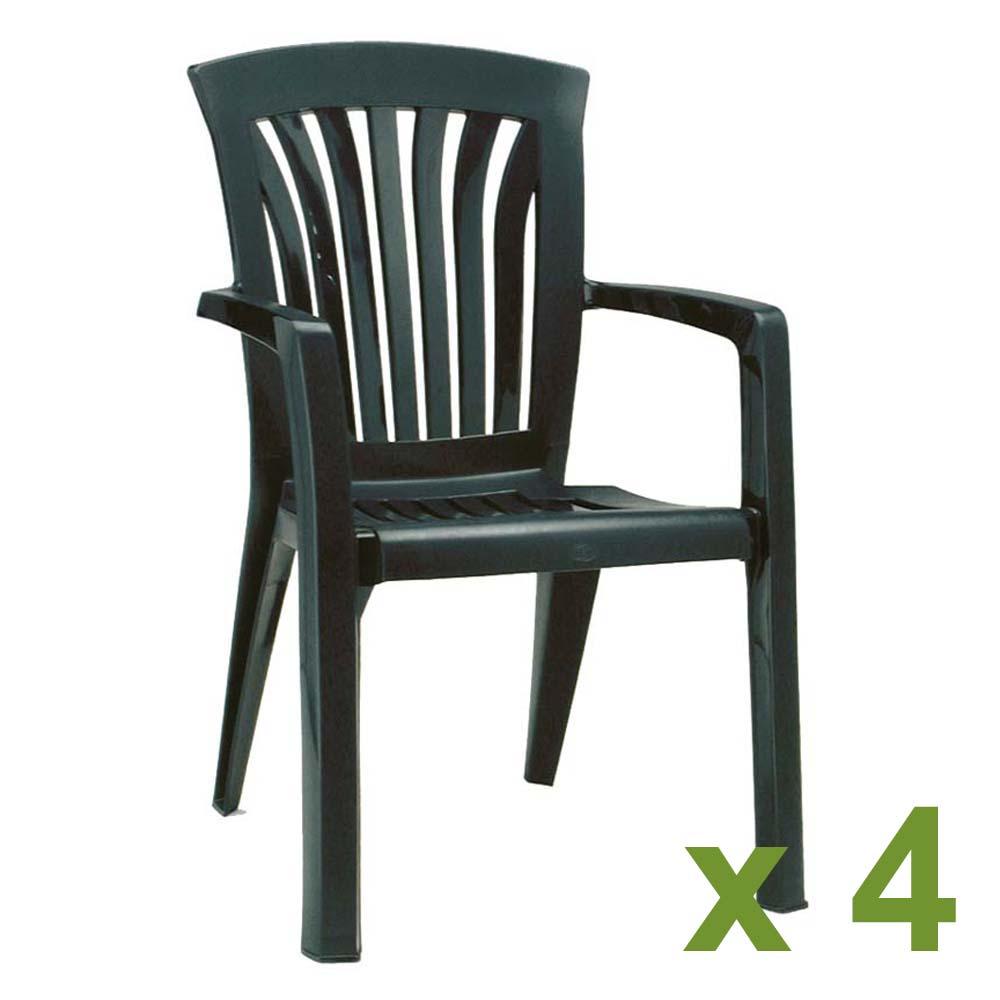 Diana Chair Green x4