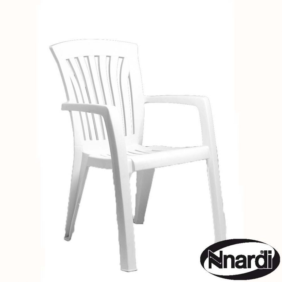 Diana stacking chair in white