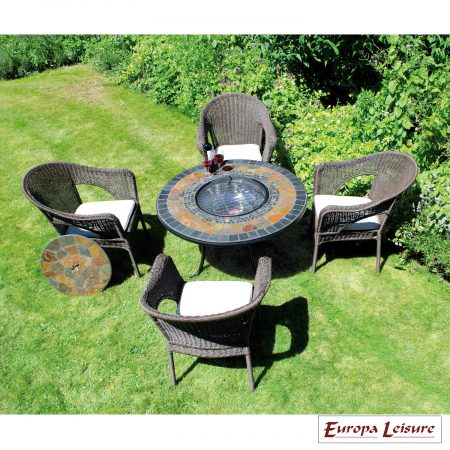 Durango firepit table low with Woburn chairs