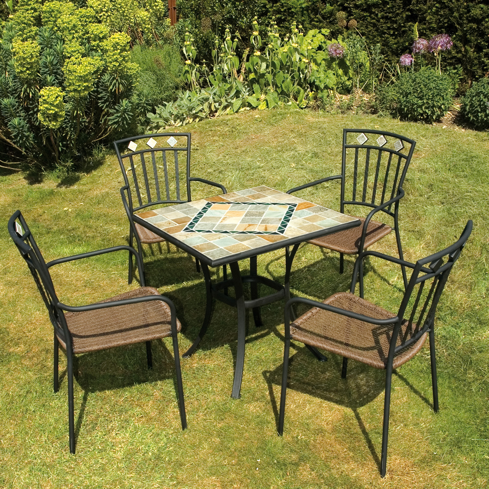 Amalfi table with 4 Murcia chairs