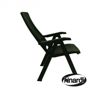 Flora chair in green part reclined