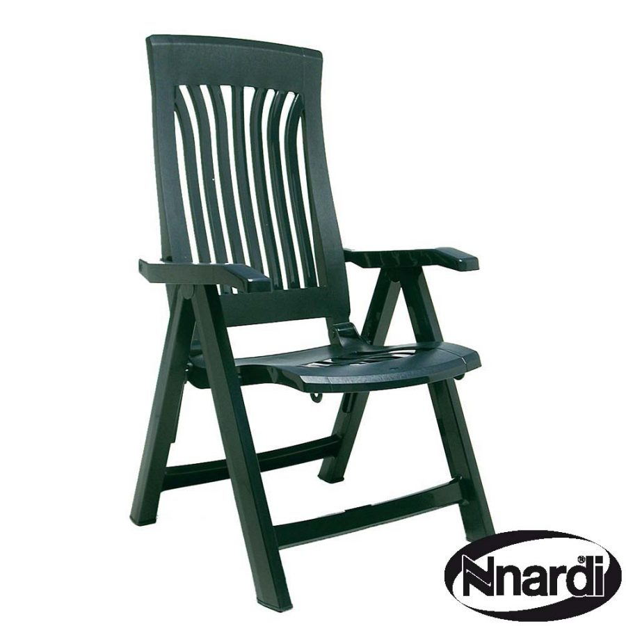 Flora reclining chair in green