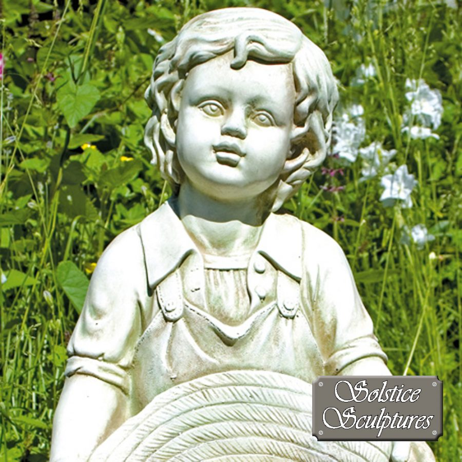 Jack garden statue close up