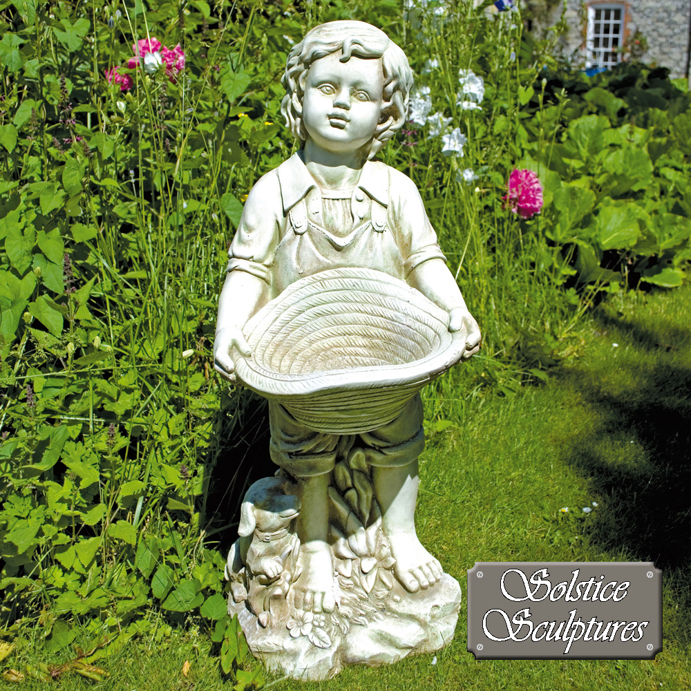 Jack poly-stone garden statue