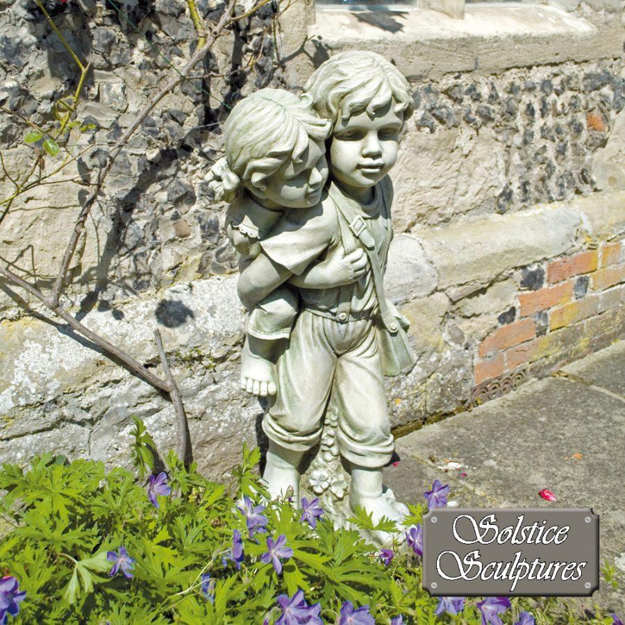 Jane & John garden statue