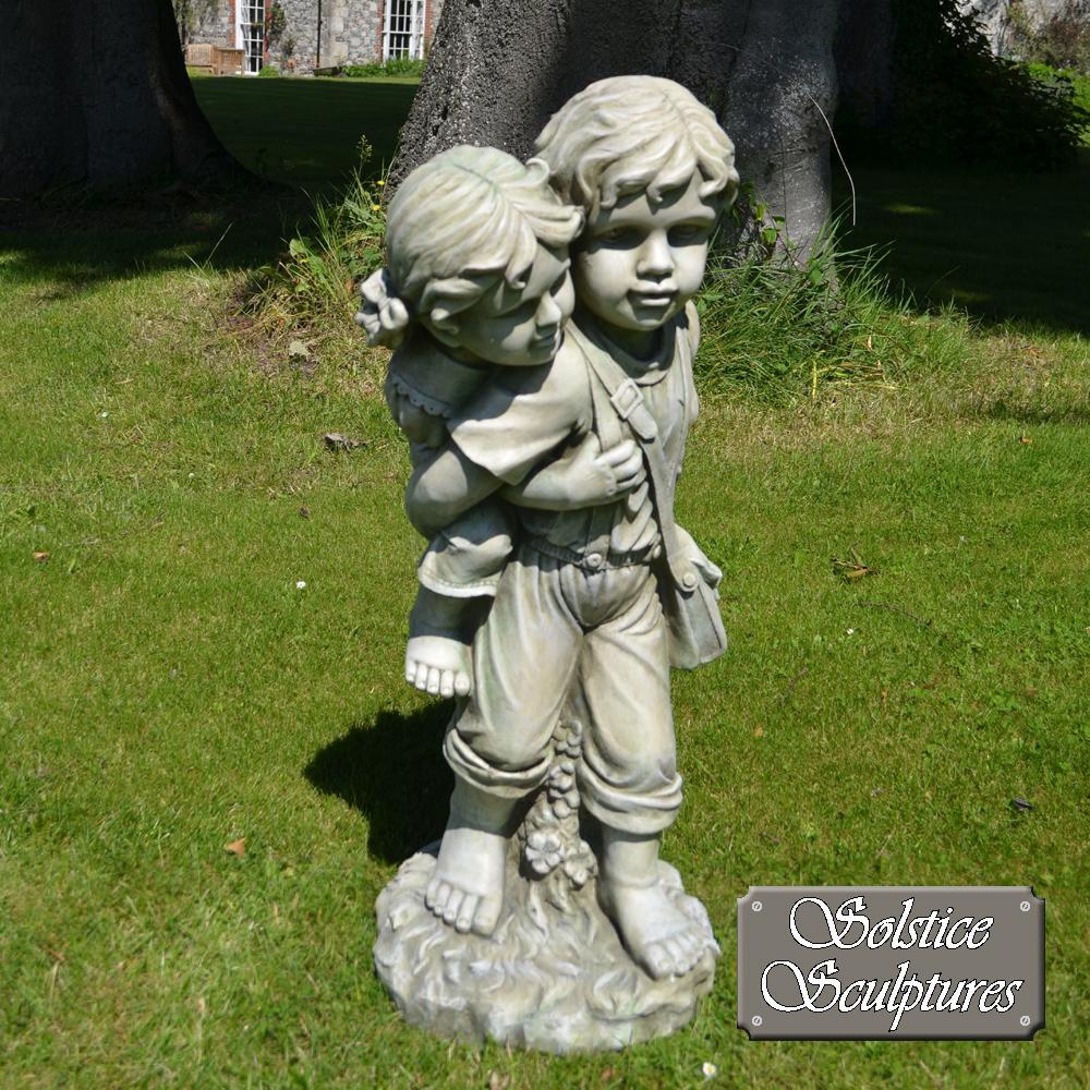 Jane & John garden statue front view