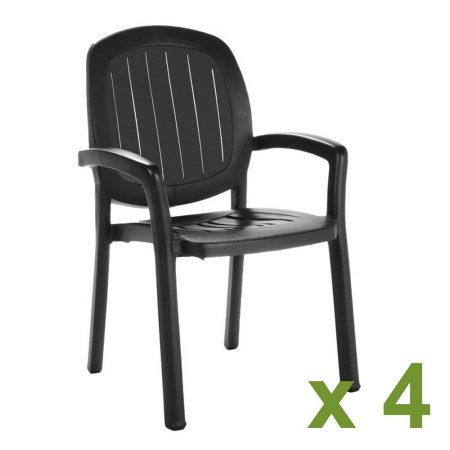 Kappa chair Anthracite x4