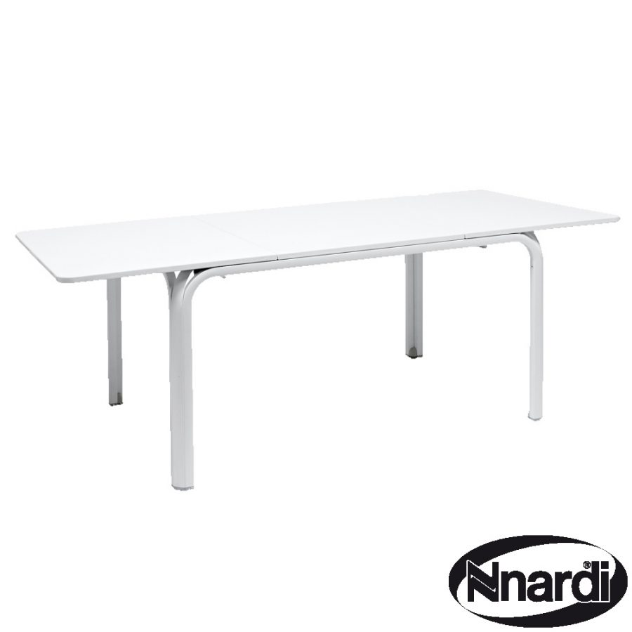 Lauro table in white extended