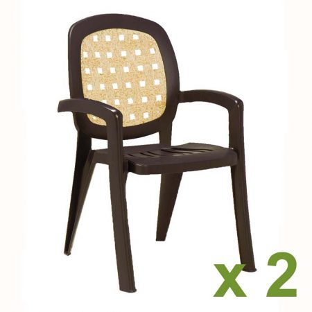 Lesena chair coffee x2