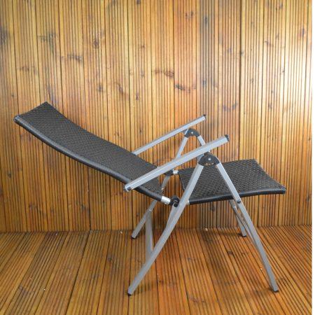 Lisbon Wicker Chair fully reclined