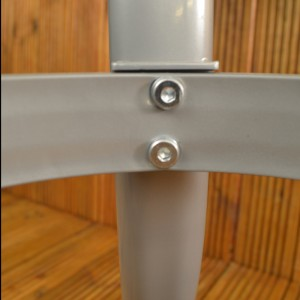 Lisbon square table leg detail