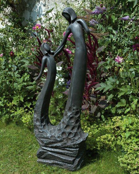 statue in black lead effect
