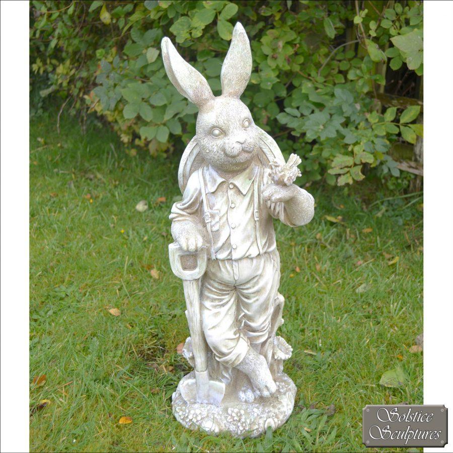 Mr Rabbit garden statue