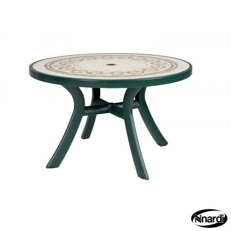 Toscana 120 table green revenna top